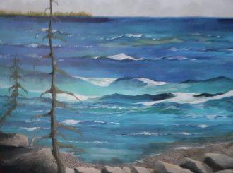 Pine Tree on the Shore, Michael Humphreys