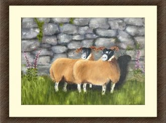 "Martina McNicholl, ""Sheep Grazing"", oil on canvas, NFS"