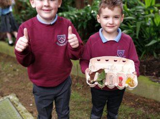 Children at Balnamore Primary School exploring nature
