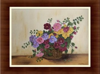 "Martina Mc Nicholl, ""Basket of Flowers"", oil on canvas, NFS"