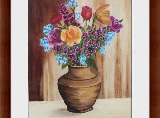 "Martina Mc Nicholl, ""Vase of Flowers"", oil on canvas, NFS"