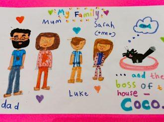 The Croxford Family drawn by Sarah