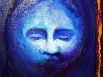 Blue by Gillian Hassan Hallam (Oil on canvas, 22x30cm, £125)