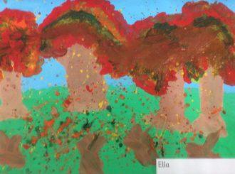 Ella Autumn Leaves Balnamore Primary School