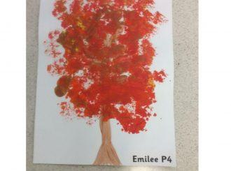 Emilee Broccoli Painting Balnamore Primary School