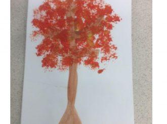 Gavin Broccoli Painting Balnamore Primary School