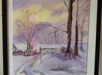 "Carole McNicholl, ""Winter Scene River Roe"", oil, NFS"