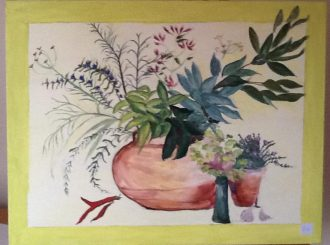 "Carole McNicholl, ""Herbs"", acrylics, 36x28 inches, £75"