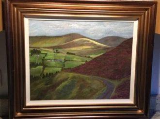 "Briege McWilliams, ""Beautiful Barnes Gap"", 27x23 inches, original acrylic, £230"