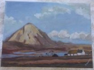 """Rosemary O'Kane, """"Scene near Errigal Co. Donegal"""", oil on canvas, £30"""