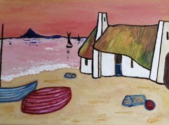The Cottage, Cheryl Doyle, oil on canvas