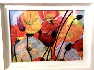 Poppies, Mabel Caskie, Oil on canvas.