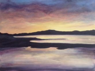 In the Quiet of the Evening, Carrigart Donegal by Sally Patton (Acrylic, 60x50cm)