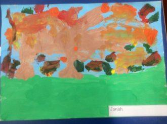 Jonah Autumn Leaves Balnamore Primary School
