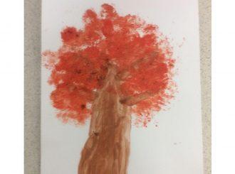 Luke Broccoli Painting Balnamore Primary School