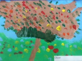 Oliver Autumn Leaves Balnamore Primary School