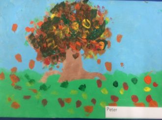 Peter Autumn Leaves Balnamore Primary School