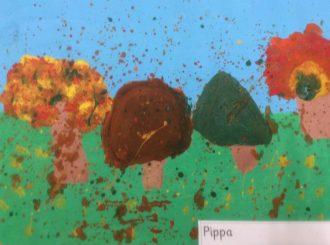 Pippa Autumn Leaves Balnamore Primary School