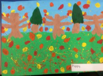 Poppy Autumn Leaves Balnamore Primary School