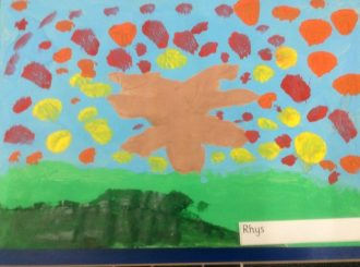 Rhys Autumn Leaves Balnamore Primary School