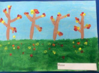 Rosie Autumn Leaves Balnamore Primary School