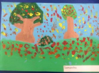 Samantha Autumn Leaves Balnamore Primary School