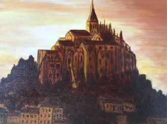 Picture of Mont St Micheal, Kathleen Devlin, oil on canvas