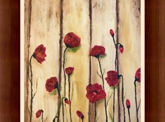 "Martina Mc Nicholl, ""Poppies"", oil on canvas, NFS"