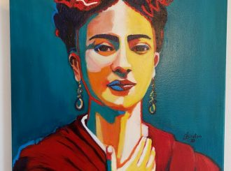 "Kirsten Brolly, ""Frida Kahlo"", oil on canvas, NFS"