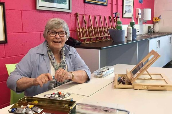 Our Friday Art Group are back!