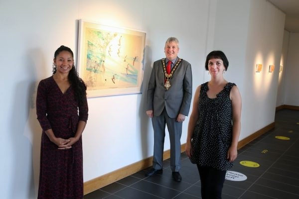 New exhibition by Susan Hughes opened by the Mayor