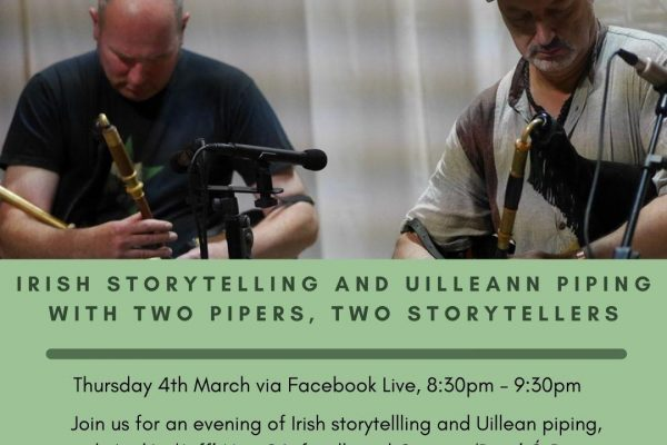Irish Storytelling and Uilleann Piping with Two Pipers, Two Storytellers